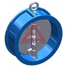 Клапан обратный межфланцевый двухстворчатый подпружиненный DN 100 PN16, T.I.S тип C084